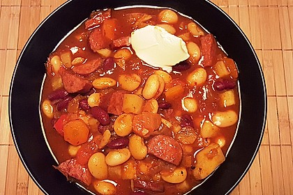 Rote ungarische Bohnensuppe 2