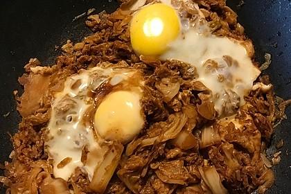 Gebratener Kohl mit Ei 13