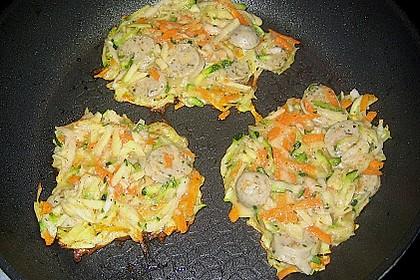 Wurst - Puffer mit Gemüse 2