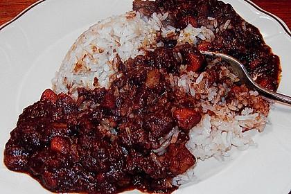 Fleisch - Kartoffeltopf mit Kakao 1