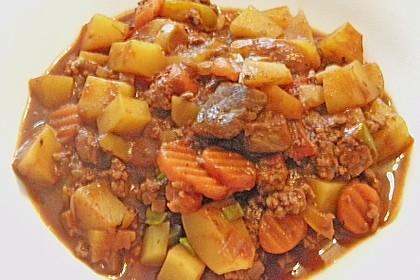 Fleisch - Kartoffeltopf mit Kakao 2