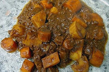 Fleisch - Kartoffeltopf mit Kakao