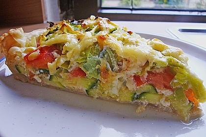 Saftiger Zucchini - Tomaten - Kuchen