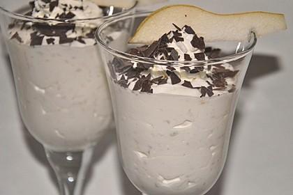 Birnen mit Joghurtsahne (Bild)