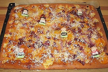 Ananas - Mandarinen - Blechkuchen 8