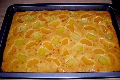Ananas - Mandarinen - Blechkuchen 6