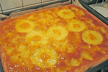 Ananas - Mandarinen - Blechkuchen 4