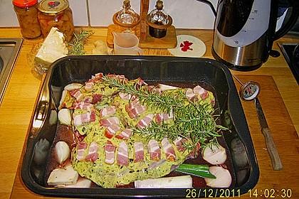Wildschweinkeule mit Ingwer - Honig - Sauce 4
