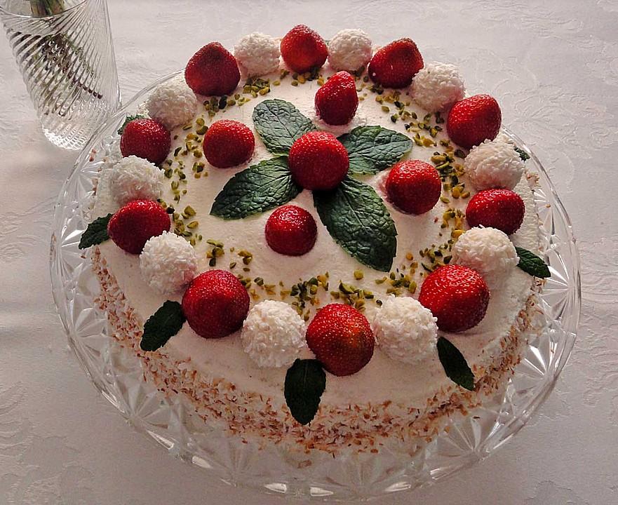 Erdbeer Raffaello Torte Von Elli K Chefkoch De