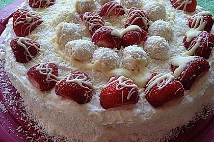 Erdbeer-Raffaello-Torte 50