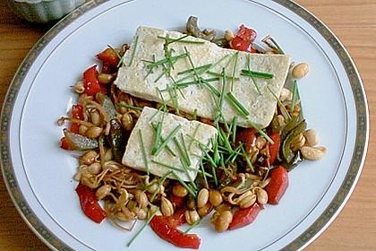 Gebratener Tofu auf Gemüse 2