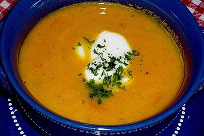 Möhren - Ingwer - Suppe 4