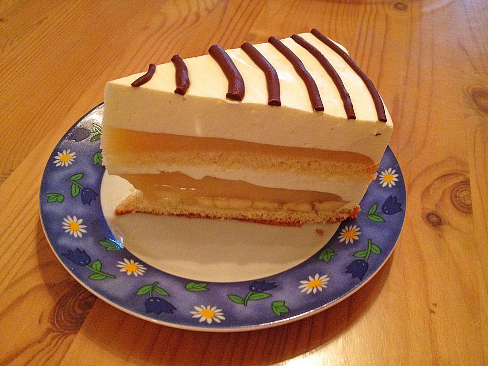 Bananen Sahne Torte Von Fabienne Chefkoch De