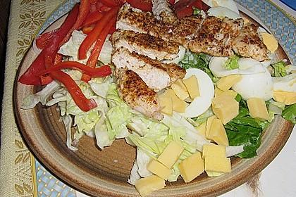 Bunter Salat mit Putenbruststreifen 10