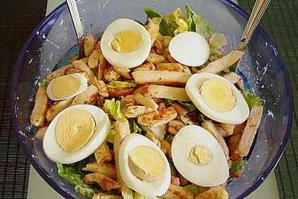 Bunter Salat mit Putenbruststreifen 7