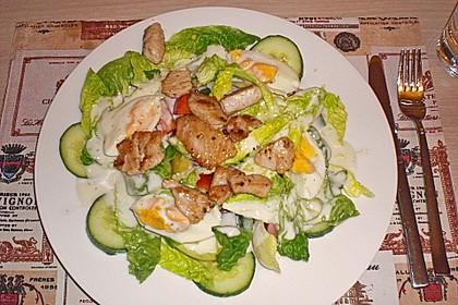 Bunter Salat mit Putenbruststreifen 15