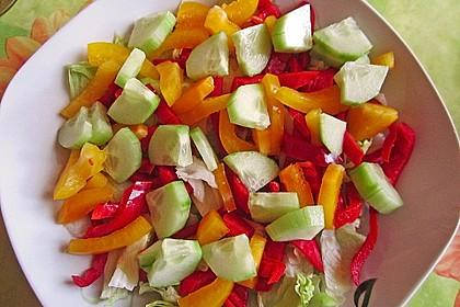 Bunter Salat mit Putenbruststreifen 13