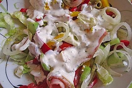 Bunter Salat mit Putenbruststreifen 3