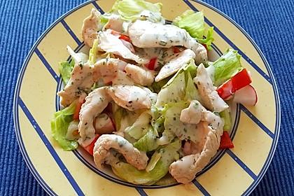 Bunter Salat mit Putenbruststreifen 1