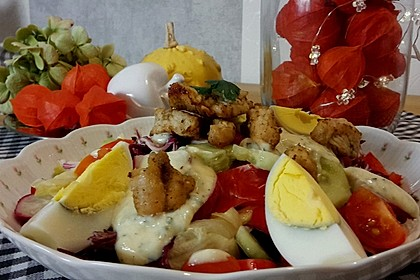 Bunter Salat mit Putenbruststreifen 4
