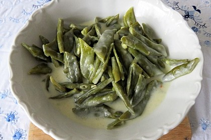Bohnen in weißer Sauce (Bild)