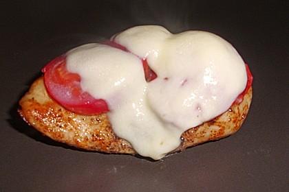 Hähnchenbrust mit Mozzarella überbacken 2