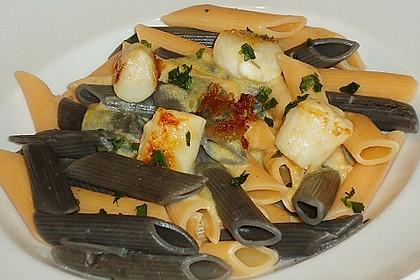 Jakobsmuscheln auf Pasta an Rieslingsauce 3