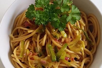 Spaghetti - Salat
