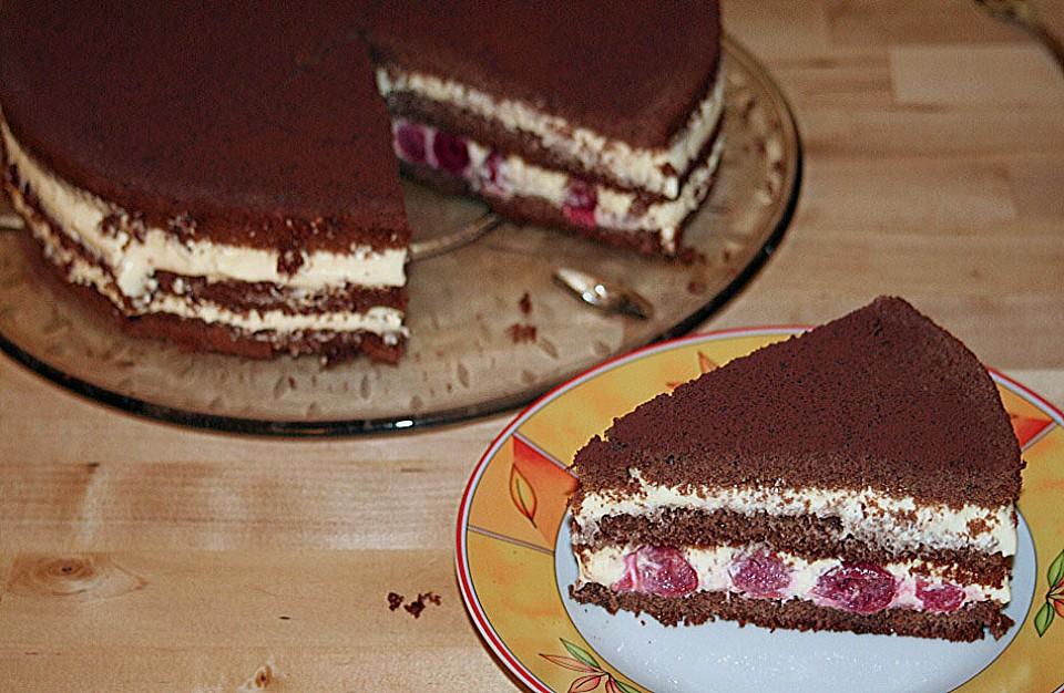 Schnelle Tiramisu Torte Mit Kirschen