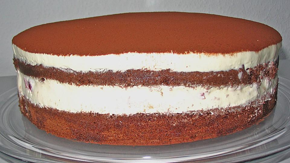 Schnelle Tiramisu Torte Mit Kirschen Von Bienemaya Chefkoch De