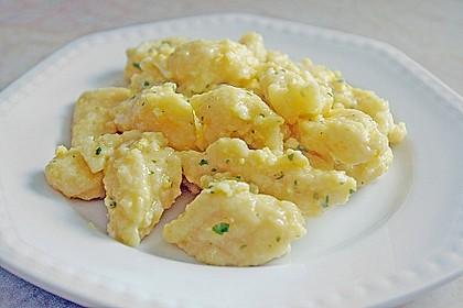 Eiernockerl mit Salat - Omas Rezept 1