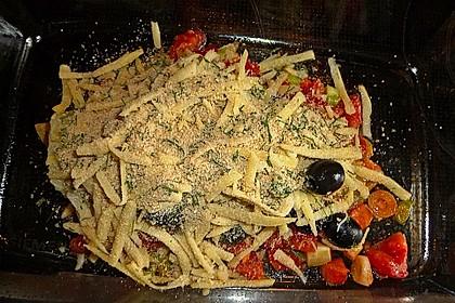 Überbackenes Fenchelgemüse mit schwarzen Oliven 1