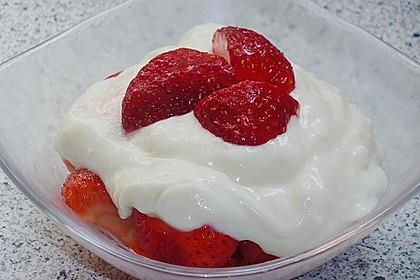 Vanillepudding mit Quark und Obst 5