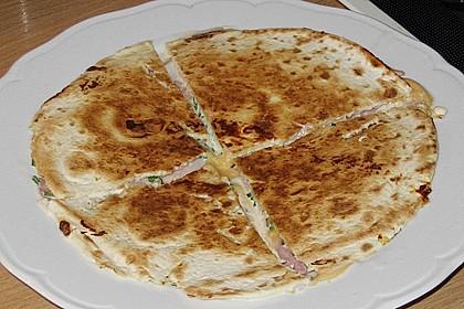 Tortilla - Käse - Schinken - Ecken