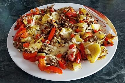 Kartoffel - Paprika - Pfanne mit Hackfleisch 16