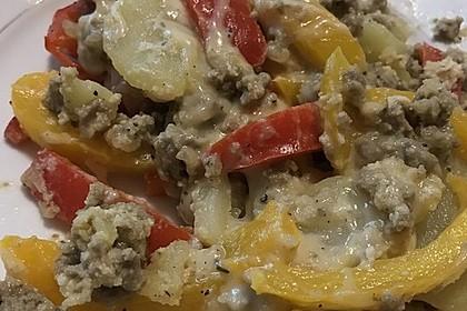 Kartoffel - Paprika - Pfanne mit Hackfleisch 15