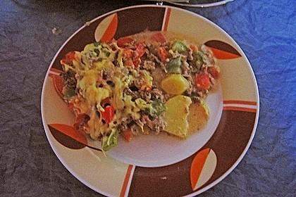 Kartoffel - Paprika - Pfanne mit Hackfleisch 14