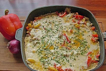 Kartoffel - Paprika - Pfanne mit Hackfleisch 3