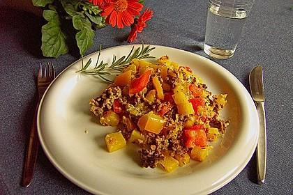 Kartoffel - Paprika - Pfanne mit Hackfleisch 10