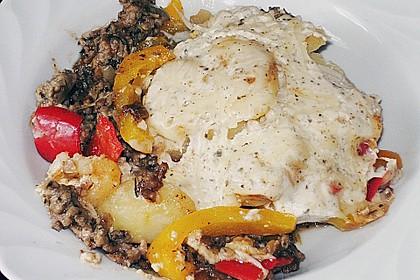 Kartoffel - Paprika - Pfanne mit Hackfleisch 9