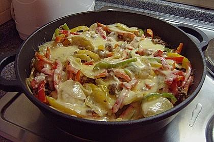 Kartoffel - Paprika - Pfanne mit Hackfleisch 1