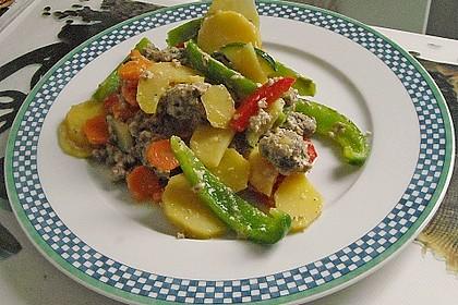 Kartoffel - Paprika - Pfanne mit Hackfleisch 11