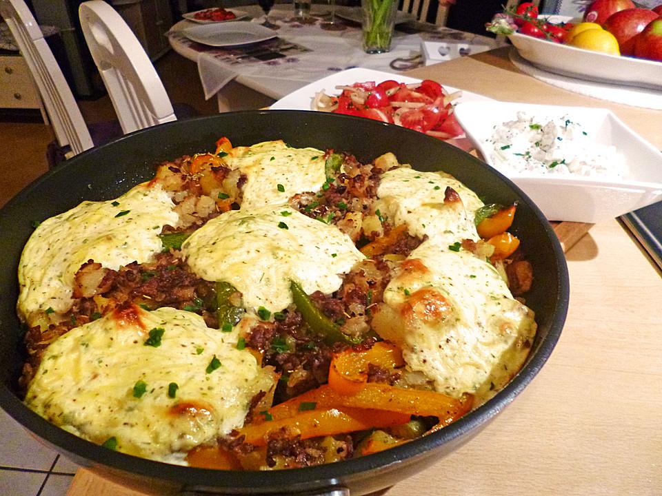Gerichte mit hackfleisch und kartoffeln