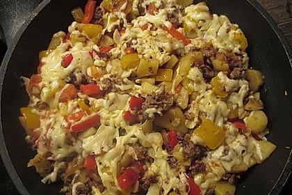 Kartoffel - Paprika - Pfanne mit Hackfleisch 4
