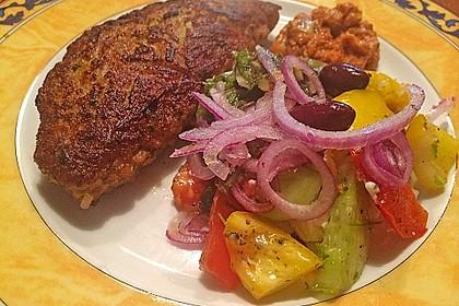 Beefsteaks mit Schafskäse 3