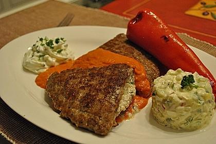 Beefsteaks mit Schafskäse 1