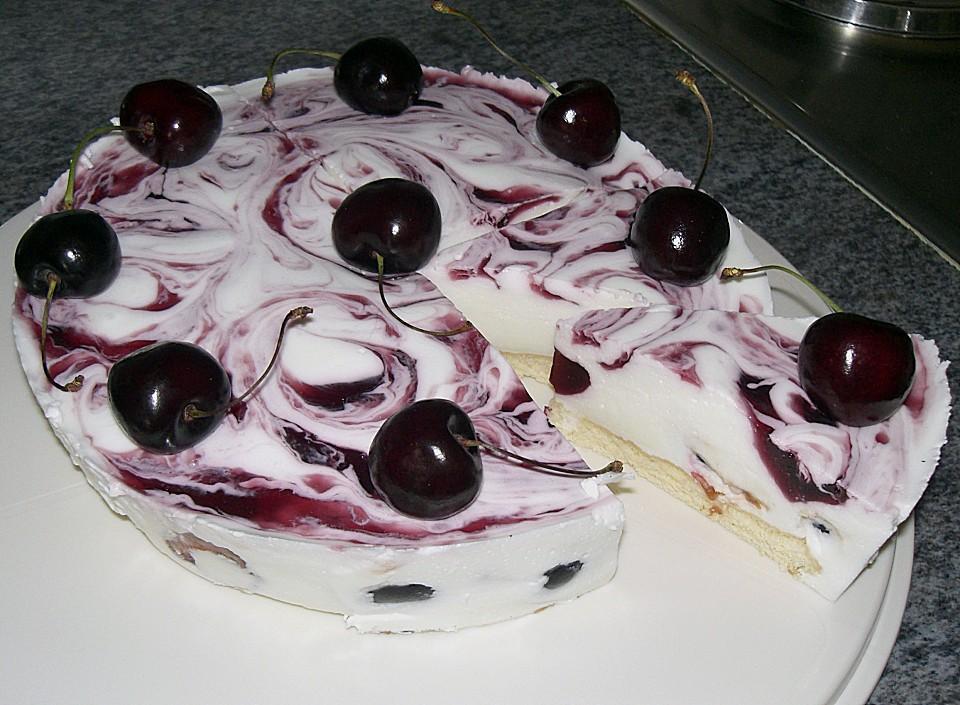 Marmorierte Kirsch Joghurt Torte Von Jeanny01 Chefkoch De