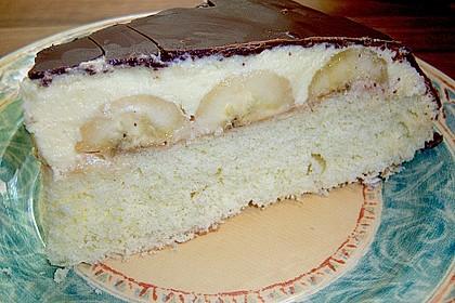 Bananentorte mit Schokoguss 1
