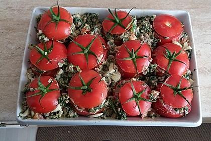 Gefüllte Tomaten mit Spinat und Hackfleisch 1