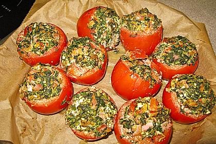 Gefüllte Tomaten mit Spinat und Hackfleisch 2